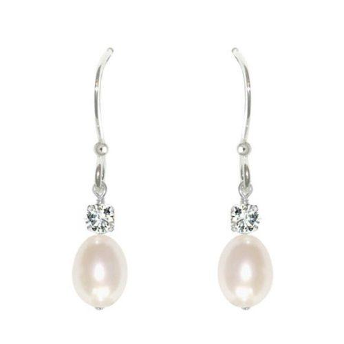 Anna Pearl Drop Bridal Earrings