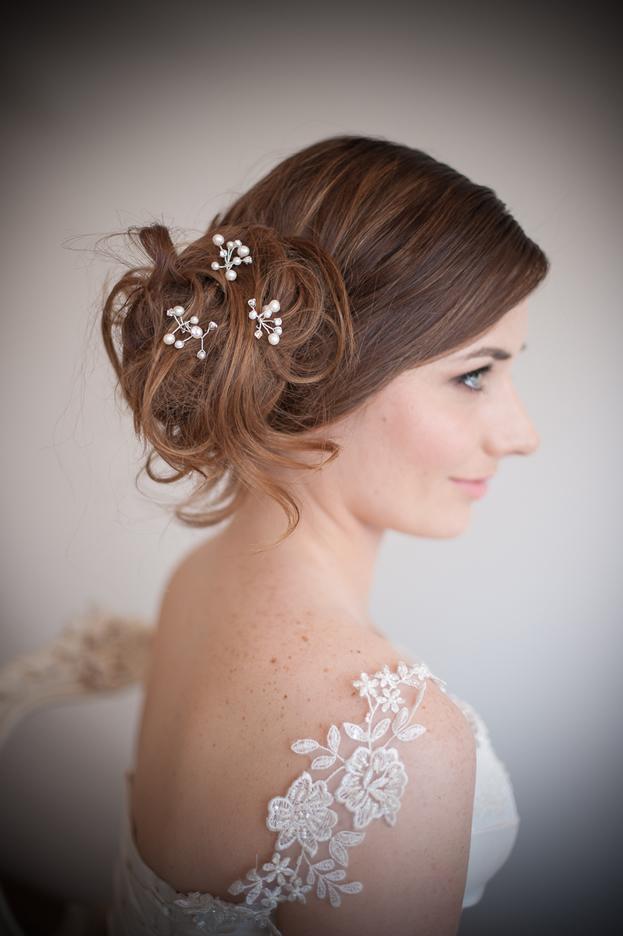 set of vintage bridal hair pins