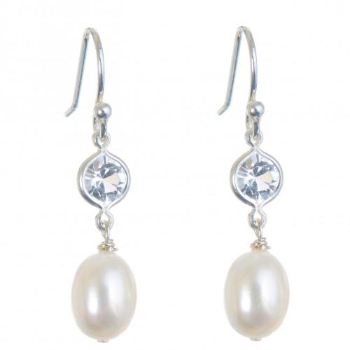 Isabella Pearl Wedding Earrings