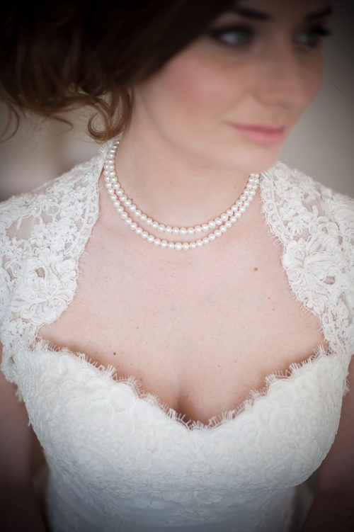 Mimosa Double Row Pearl Wedding Necklace