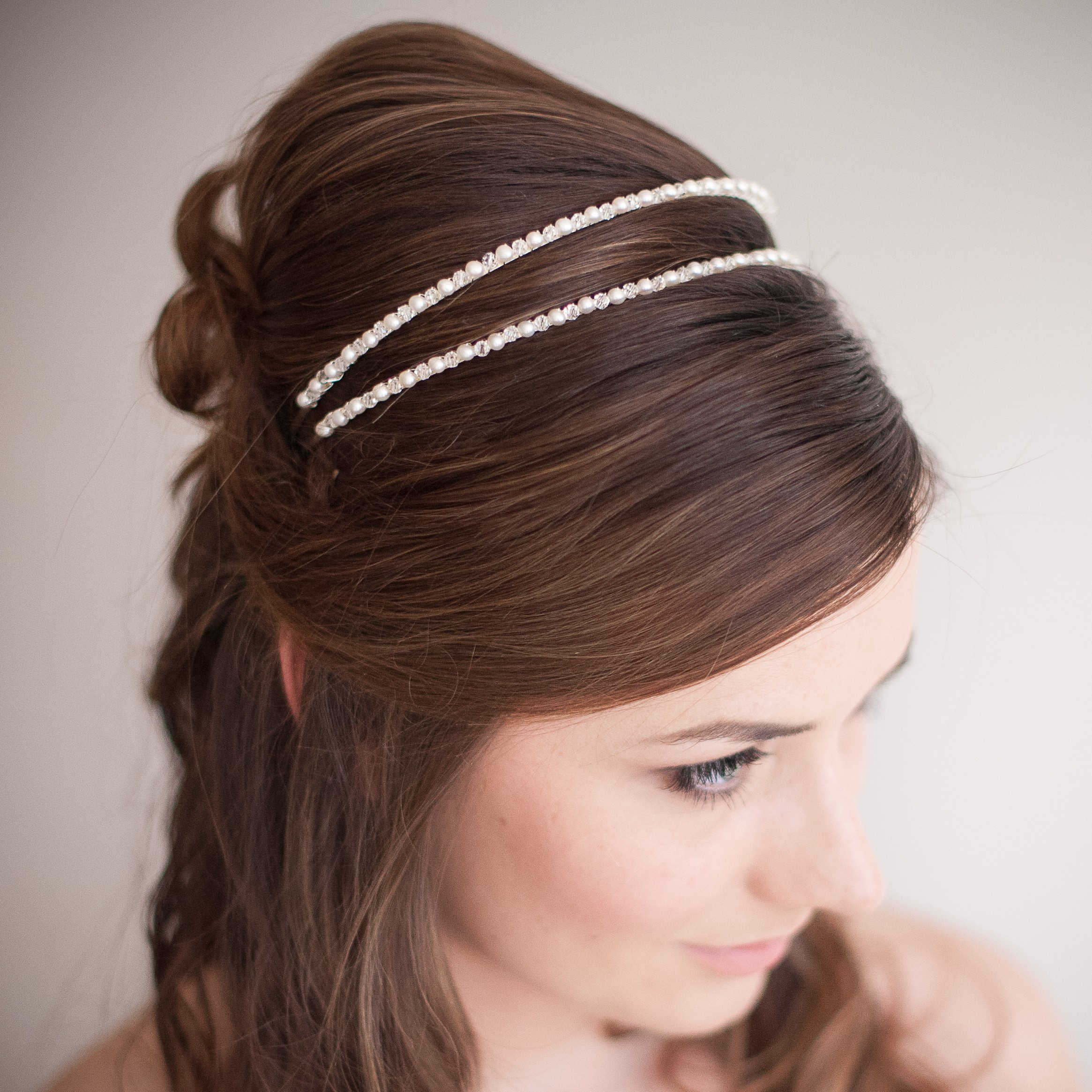 Rachel II Pearl and Crystal Bridal Headband