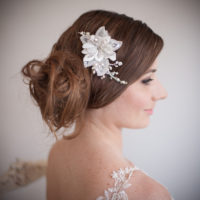 Sarah Flower Wedding Hair Comb £82