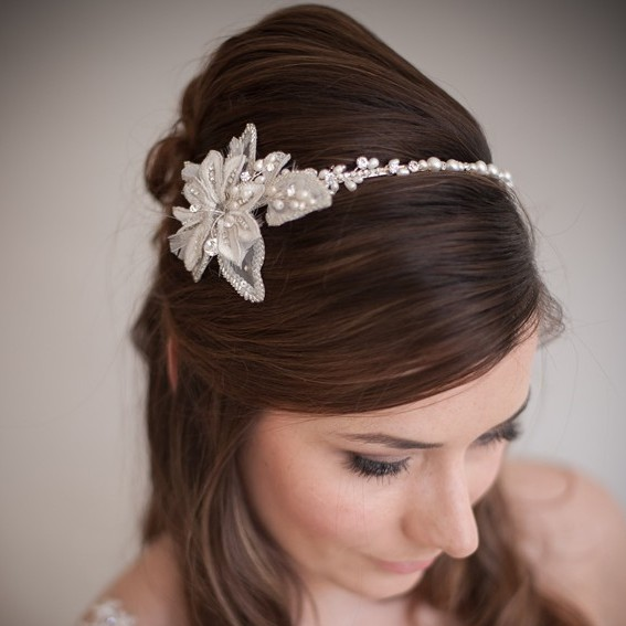 Sarah Flower Wedding Headband