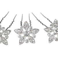 Chez Bec Set of 3 Fleur Hair Pins £26