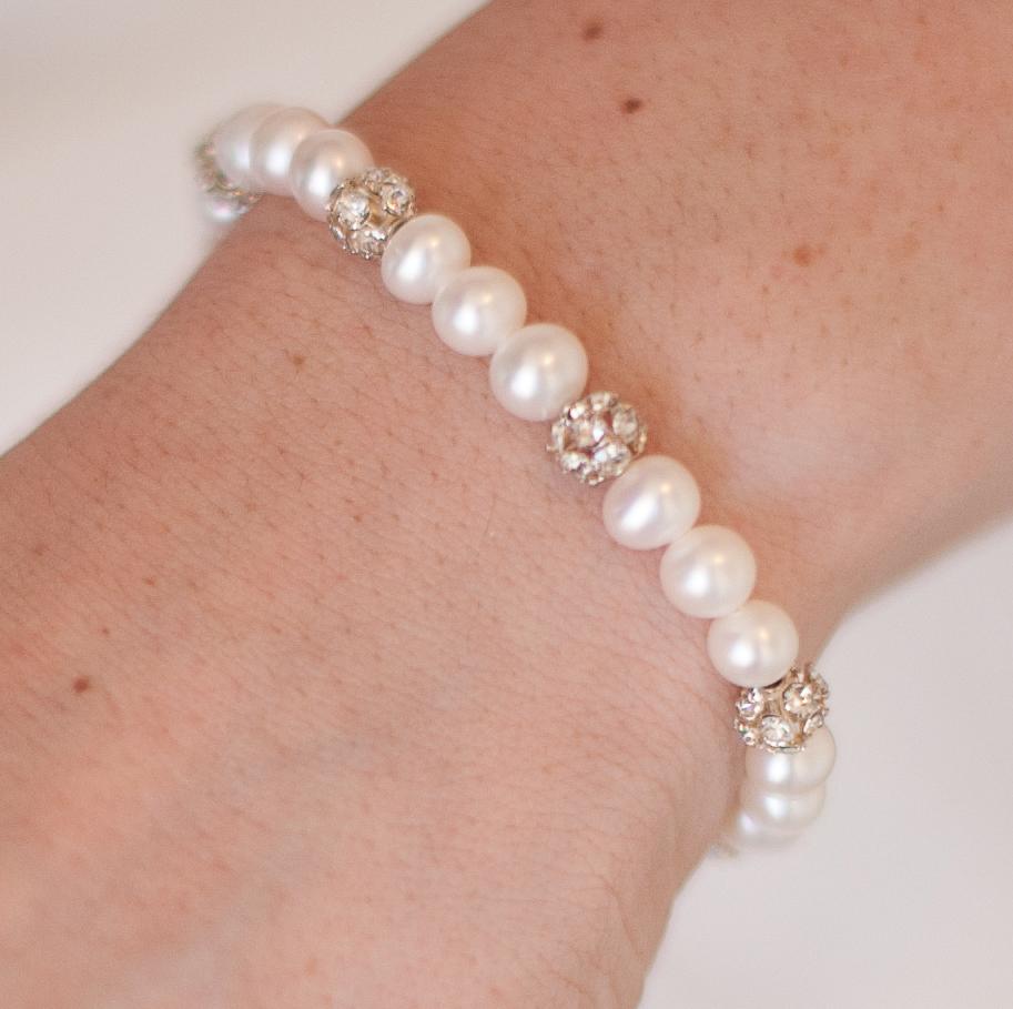 Sophia pearl wedding bracelet chez bec sophia pearl wedding bracelet junglespirit Choice Image