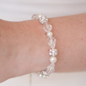 Sylvia Pearl and Crystal Bridal Bracelet
