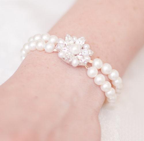 Vintage Pearl Bridal Bracelet