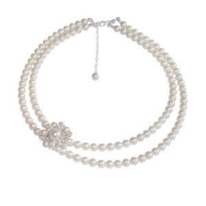 Vanessa Vintage Pearl Bridal Necklace