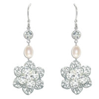 Viola Vintage Bridal Earrings