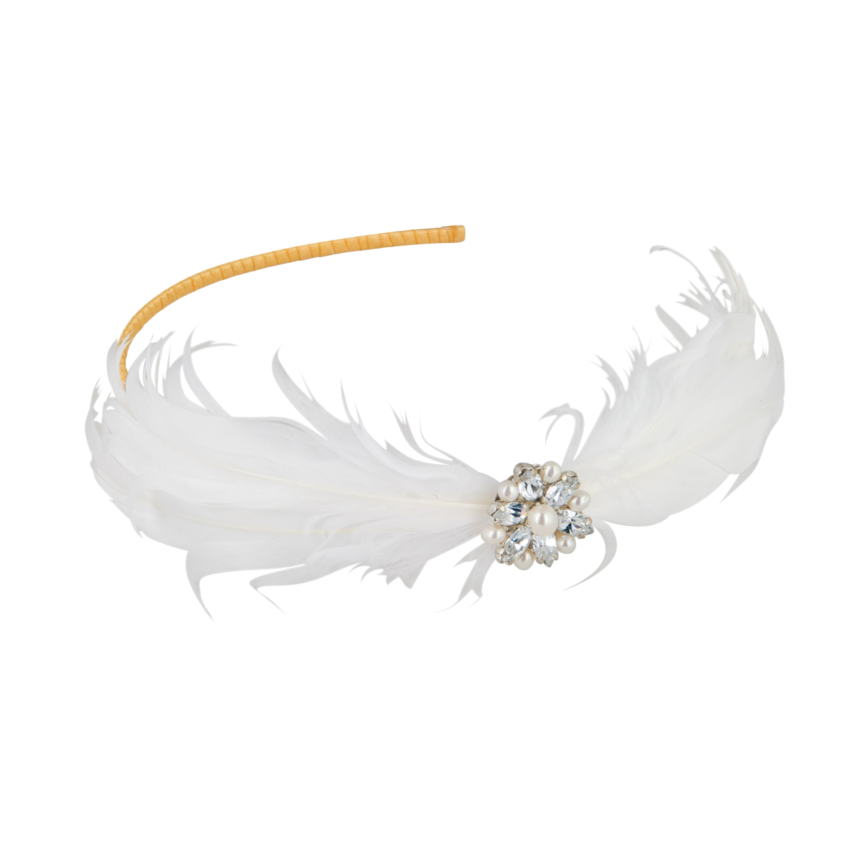 Vanessa Feather Bridal Headband £48 Chez Bec (3)