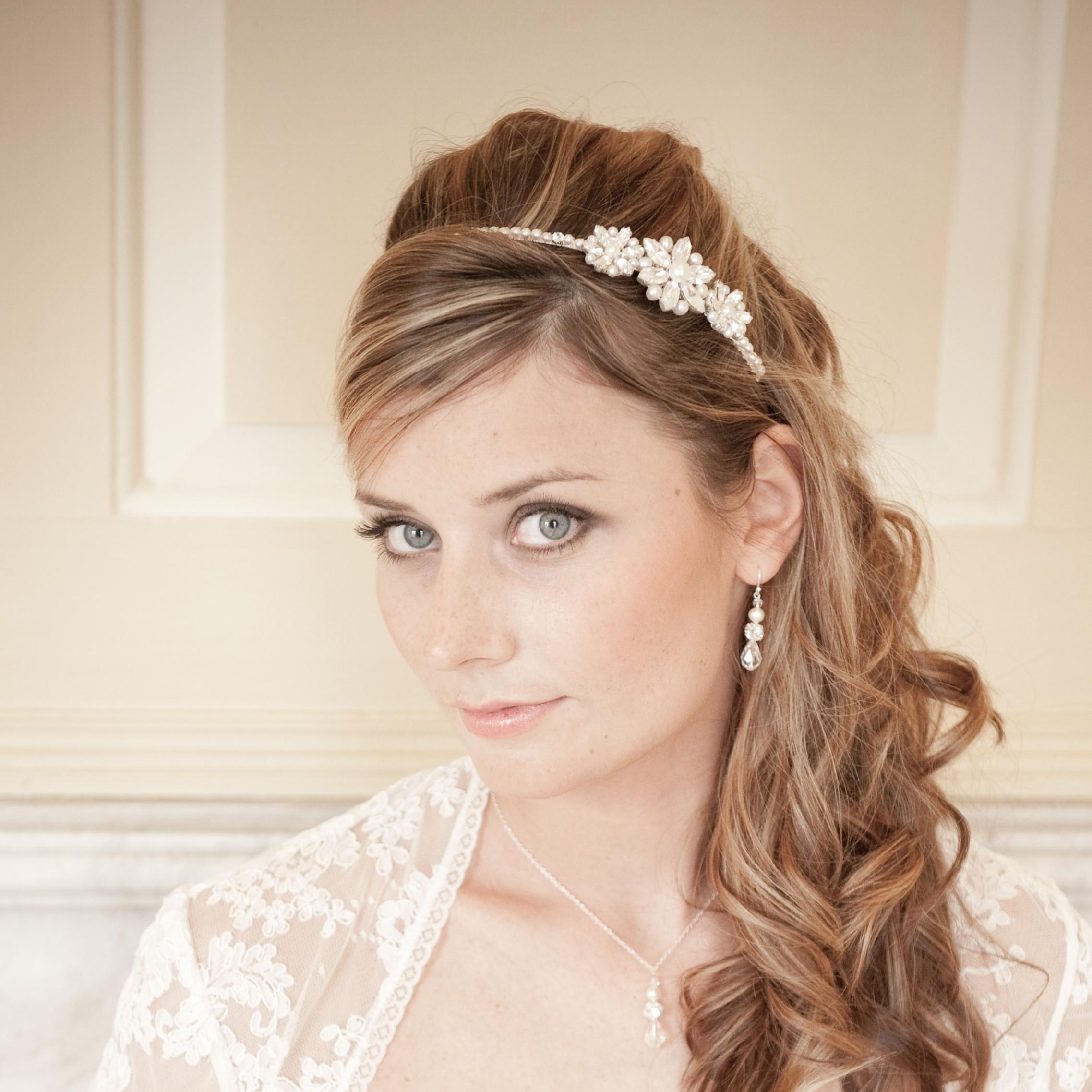 Vanessa II Vintage Pearl Bridal Headband f4babf190a1
