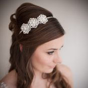 Cecily Pearl and Crystal Wedding Headband £142