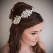 Downton Vintage Bridal Headband Ribbon £126