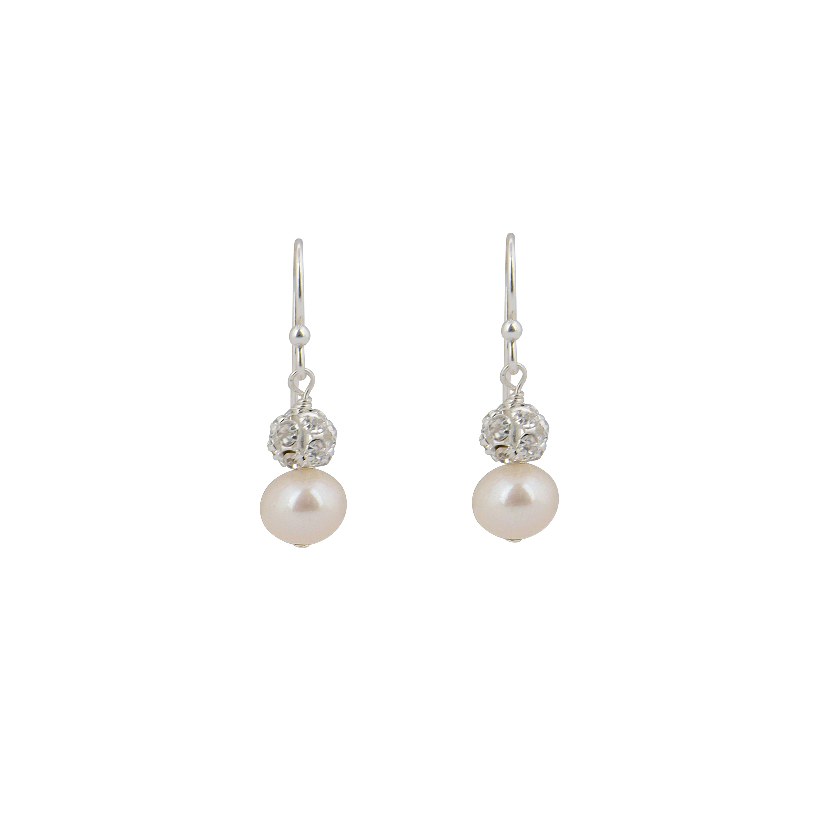 Abigail Pearl And Crystal Bridal Earrings Chez Bec