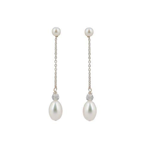 Esme Pearl Drop Bridal Earrings