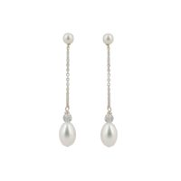 Esme Pearl Drop Bridal Earrings