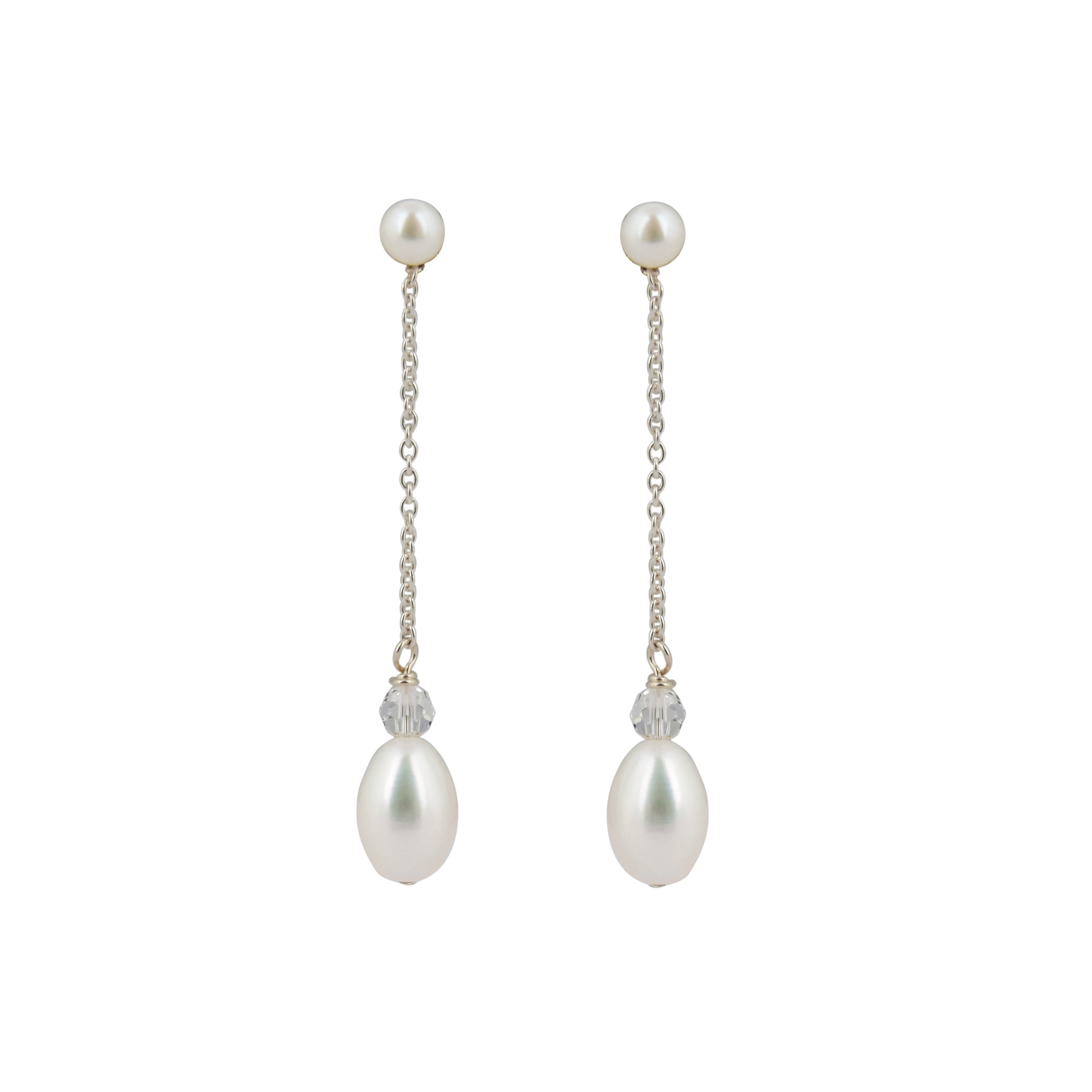 esme pearl drop bridal earrings chez bec
