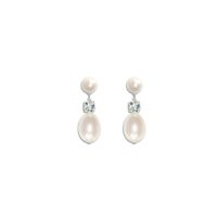Anna II Vintage Pearl Bridal Earrings