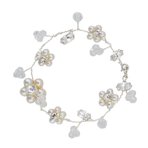 Downton Pearl Bridal Cuff Bracelet