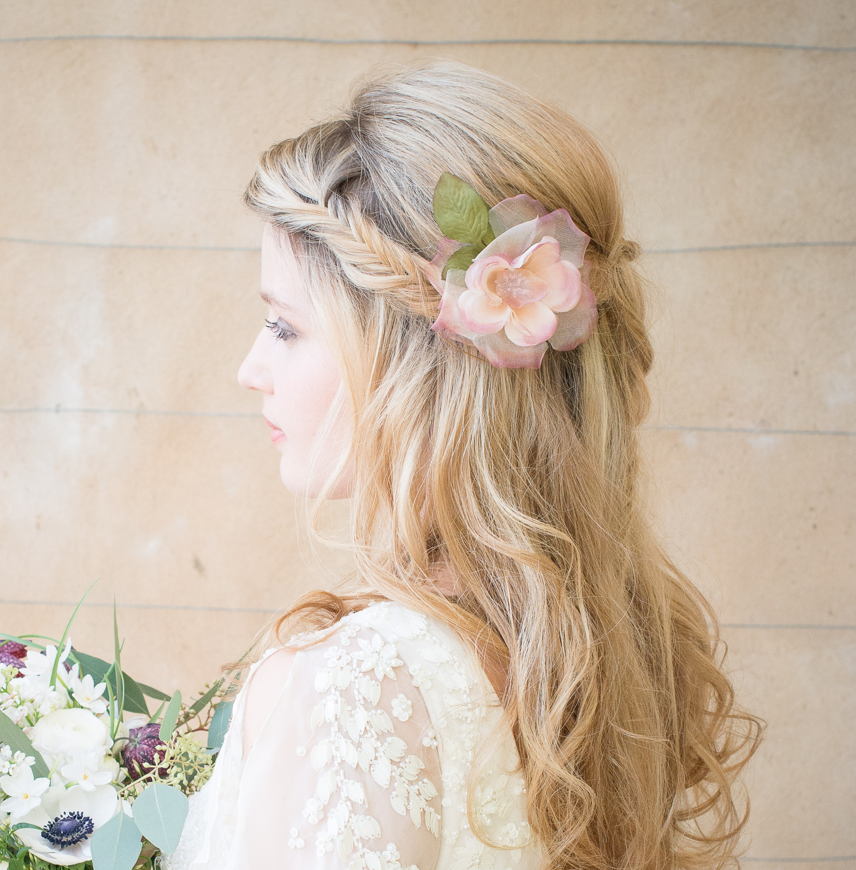 Wedding hair flowers add some beautiful flowers to your bridal hair