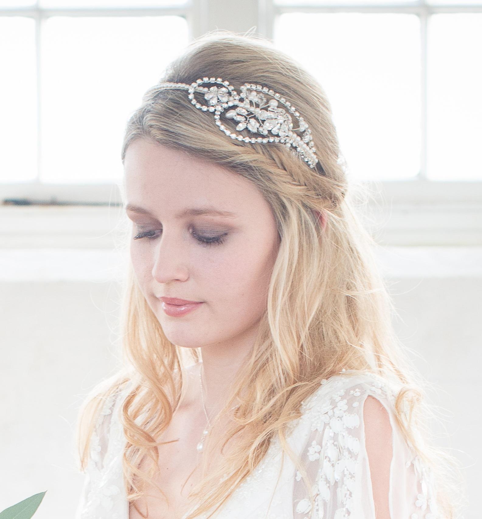 rebecca vintage bridal headband