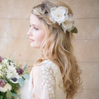 Frances Ivory Wedding Flower Hair Comb