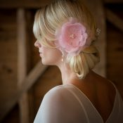 Jewelled Bella hair flower £36 Chez bec (pink) 2