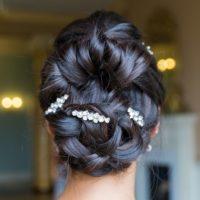 Stella large diamante hairpins