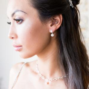 Sweetheart Pearl drop earrings