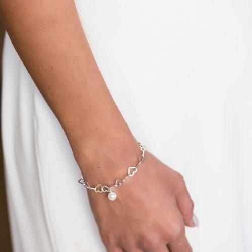Silver Sweetheart Bridal Bracelet