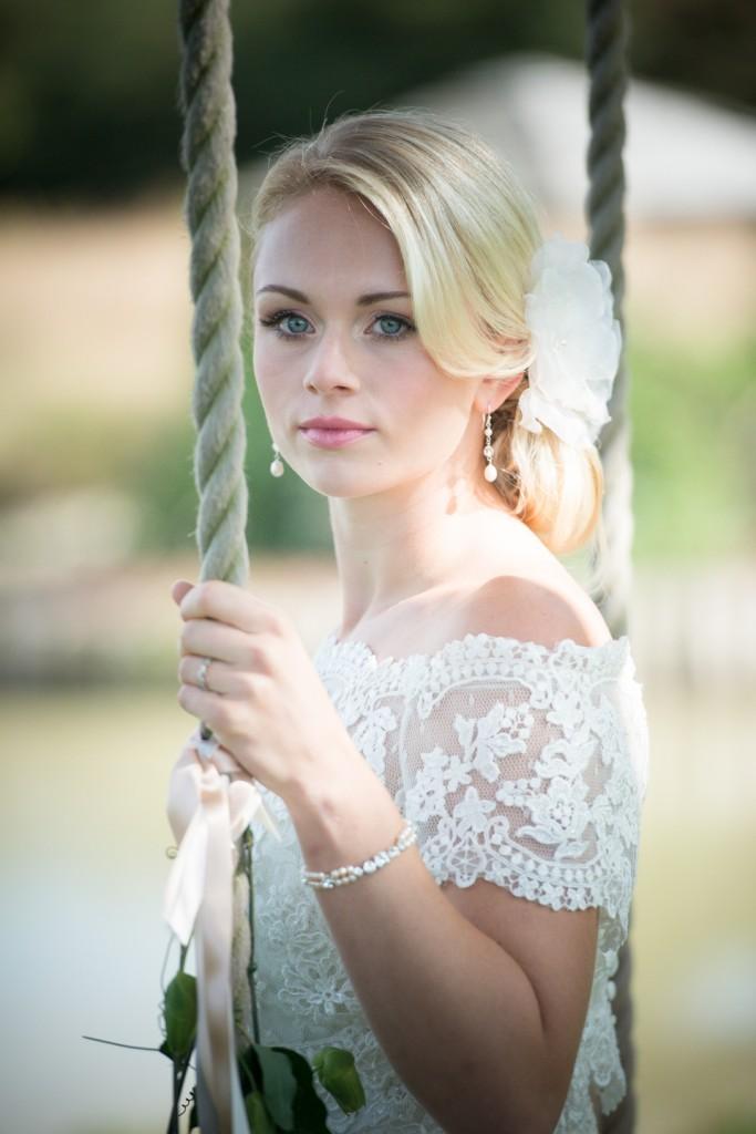 Jewelled Bella Ivory flower £36 Blossom II earrings £34 Anna Bracelet £48 Chez Bec