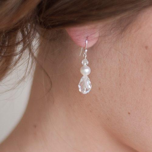 Scarlett Crystal Wedding Earrings