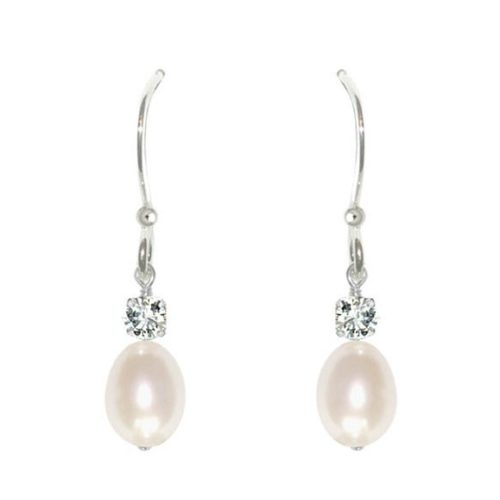 Anna Pearl Drop Bridal Earrings