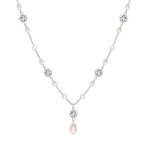 Isabella Pearl and Crystal Wedding Necklace