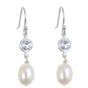 Isabella Pearl Wedding Earrings