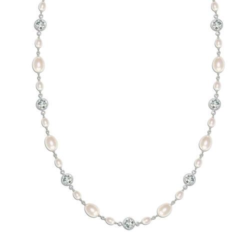 Isabella Vintage Pearl Bridal Necklace