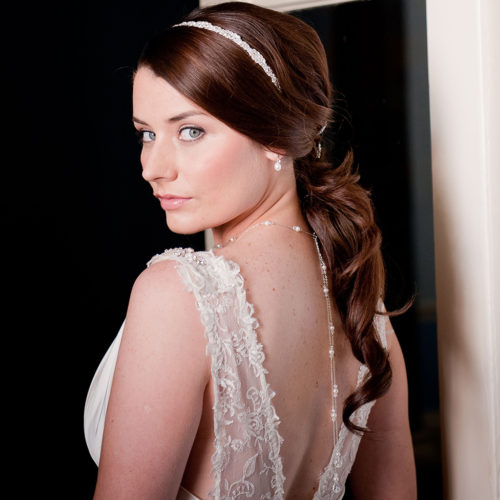 Scarlett Back Drop Bridal Necklace