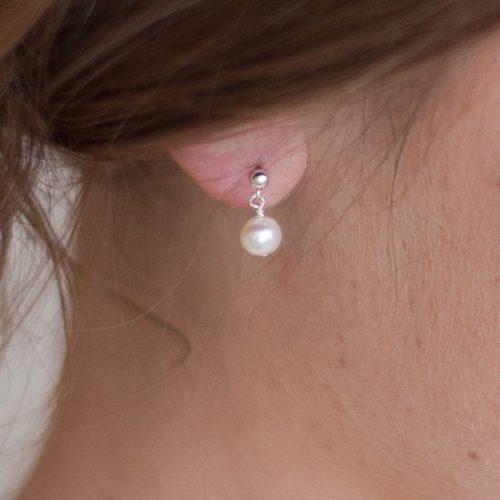 Simplicity Pearl Drop Wedding Earrings