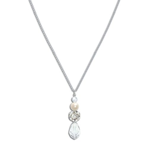 Sylvia Pearl and Crystal Bridal Pendant