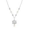 Viola Vintage Pearl and Crystal Bridal Necklace