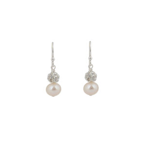 Abigail Pearl and Diamante Bridal Earrings