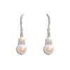 Divine Pearl Drop Bridal Earrings