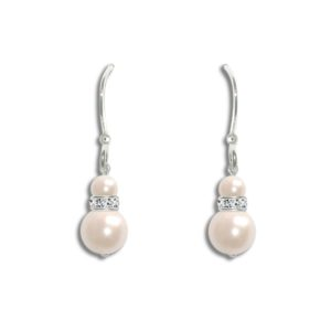 Divine Pearl Drop Bridal Earrings