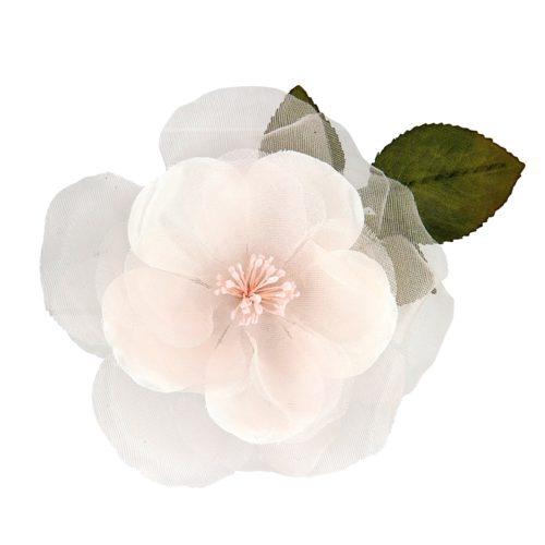 Frances Peach Bridal Hair Flower
