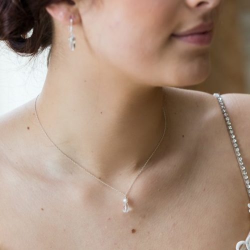 Small Lili bridal pendant