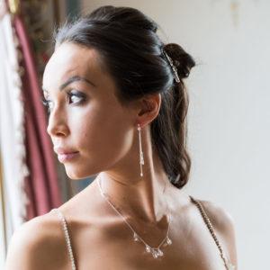 Lili crystal bridal necklace